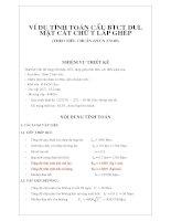 ví dụ tính toán cầu btct dul mặt cắt chữ t lắp ghép theo tiêu chuẩn 22tcn 272-05