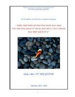 Phối hợp một số phương pháp dạy học với phương pháp sử dụng bản đồ tư duy trong dạy học Lịch Sử 6
