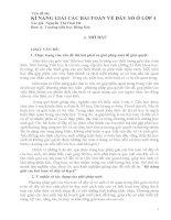 skkn kỹ năng giải các bài toán về dãy số lớp 4