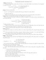 ôn tập học kỳ môn vật lý lớp 8 và 9
