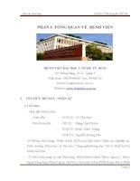 đổi mới công tác văn thư lưu trữ tại bệnh viện đại học y dược thành phố hồ chí minh