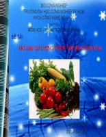 xác định dư lượng thuốc trừ sâu trong rau
