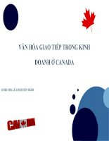 slide văn hóa giao tiếp kinh doanh của canada