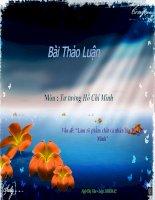 Luận văn đề tài : Làm rõ phẩm chất cá nhân của Hồ Chí Minh
