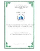 Báo cáo thực tập chuyên nghành Xây dựng website tra cứu điểm và giới thiệu về Trường trung cấp du lịch Nha Trang