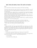 Bài tập về khấu hao tài sản cố định