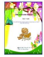 SKKN Xây dựng môi trường phòng bệnh và đảm bảo an toàn cho trẻ mầm non