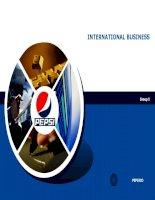 slide nghiên cứu hoạt động kinh doanh quốc tế của công ty pepsico và bài học kinh nghiệm
