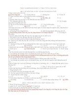 TRẮC NGHIỆM SINH HỌC 11 THEO TỪNG BÀI