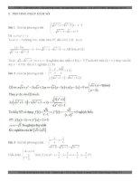 Tuyển tập hệ phương trình giải bằng phương pháp hàm số  Rèn luyện câu 9 điểm  Sưu tầm trong các đề thi thử Đại học