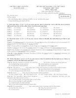 đề thi thử đại học anh lần 1 - 2014 chuyên nguyễn huệ hn