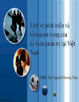 KTQT  Lịch sử phát triển và tầm quan trọng của kế toán quản trị tại Việt Nam