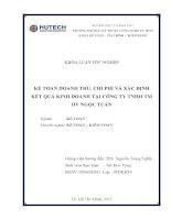kế toán doanh thu, chi phí và xác định kết quả kinh doanh tại công ty tnhh tm dv ngọc tuấn