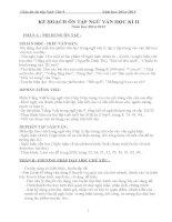 giáo án ôn tập học kì ii – văn 9 tham khảo hay