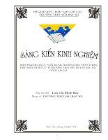 SKKN biện pháp quản lý xây dựng trường học thân thiện, học sinh tích cực ở trường thpt số 1 bắc hà