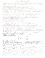 Bài tập tổng hợp Hóa học hữu cơ và đáp án.