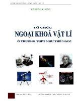 skkn tổ chức hoạt động ngoại khóa vật lý