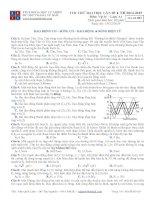 Đề thi thử đại học số 03 năm 2015 có đáp án (trần quốc lâm BMT)