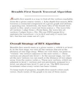 Thuật toán BSF (Breadth First Search Traversal Algorithm)