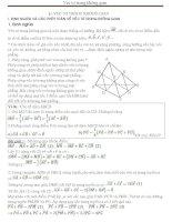 Các dạng toán thường gặp về véc tơ trong không gian  Thầy Sỹ