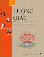 Lượng giác tập 3: Tìm giá trị lớn nhất, giá trị lớn nhất, một số phương pháp lượng giác hóa