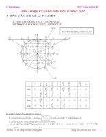 Rèn luyện kĩ năng biến đổi lượng giác lớp 10