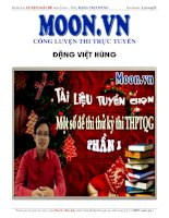 Moon.vn Một số đề thi thử môn Toán của thầy Đặng Việt Hùng