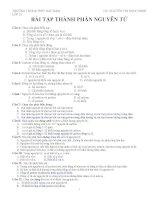 Bài tập về thành phần nguyên tử lớp 10
