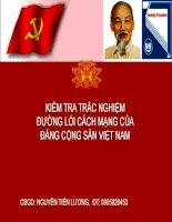 Kiểm tra trắc nghiệm đường lối cách mạng của đảng cộng sản việt nam