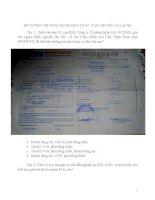 Đề cương ôn thi thực hành dành cho khai thác vận chuyển lái xe bưu chính viễn thông