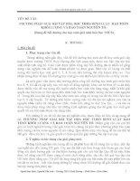 SKKN Phương pháp giải bài tập hóa học theo định luật bảo toàn khối lượng và bảo toàn nguyên tố