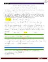 Tổng hợp cách giải chi tiết Vật Lý khối A