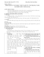 Giáo án ngữ văn lớp 12 soạn 4 cột theo cktkn