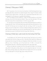 Chiến lược cạnh tranh của KFC trên thị trường Việt Nam