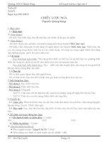 Giáo án Văn 9 Tuần 15 Chiếc Lược Ngà chuẩn KTKN 2015