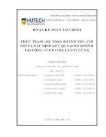 thực trạng kế toán doanh thu, chi phí và xác định kết quả kinh doanh tại công ty cp vina lá sắt cứng