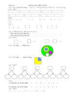 Bộ đề kiểm tra môn toán lớp 1 học kì 1 năm học 2014  2015