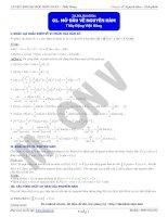 Chuyên đề Nguyên hàm  Tích phân (đầy đủ)  Đặng Việt Hùng