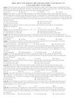 hóa hữu cơ trong các đề thi cđ và đh