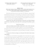 BÁO cáo TỔNG kết PHONG TRÀO THI ĐUA yêu nước và đề RA PHƯƠNG HƯỚNG NHIỆM kì mới của TP PHỦ lí