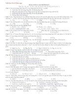 Trắc nghiệm tổng hợp môn Hóa ôn thi ĐH Có đáp án