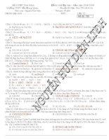 Tổng hợp các đề thi thử ĐH môn Hóa có đáp án