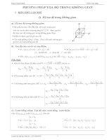 Chuyên đề phương pháp tọa độ trong không gian