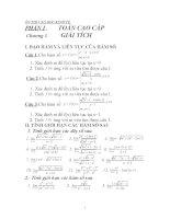 bài tập toán giải tích