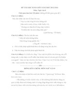 bộ đề và đáp án thi học sinh giỏi môn ngữ văn lớp 8 tham khảo