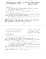 ĐỀ thi NGỮ văn 7 HKI  năm 2014 2015
