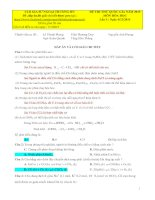 Giải chi tiết đề thi thử hóa học lần 4 năm 2015 FTU