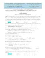 Lời giải chi tiết đề thi thử hóa học lần 3 năm 2015 FTU