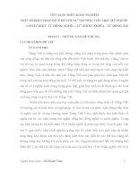 MỘT SỐ BIỆN PHÁP GIÚP HS LỚP 5A3 TRƯỜNG TIỂU HỌC MỸ PHƯỚC A PHÂN BIỆT  TỪ ĐỒNG NGHĨA  TỪ NHIỀU NGHĨA  TỪ ĐỒNG ÂM