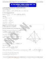 Toán học lớp 11: Hai đường thẳng vuông góc (Phần 1)  Thầy Đặng Việt Hùng.
